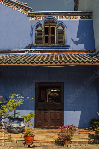 Fotografia  Niebieska posiadłość w Penang