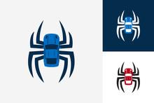 Spider Car Logo Template Desig...