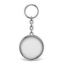 Blank Metal Trinket With A Ring For A Key Circle Shape 3D