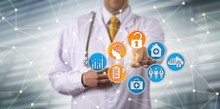 Doctor Securely Accessing EHR Via AI In Network