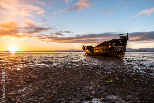 Deurstickers Schipbreuk Janie Seddon ship wreck New Zeaaland