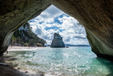 Fototapeta Bathroom - Cathedral Cove - New Zealand