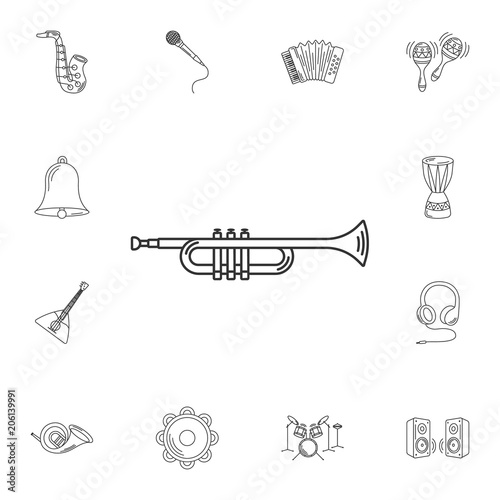 Simple Trumpet Drawing