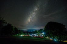 Camping Site Under Milky Way. ...