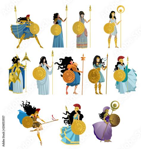 palas athena goddess collection Wallpaper Mural