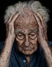 Senior Man With Deep Sorrow