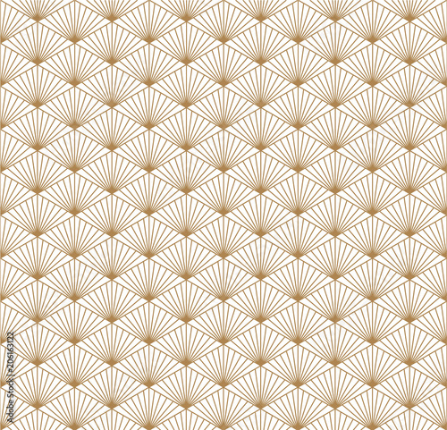 Gold geometric vector  Japanese pattern background texture