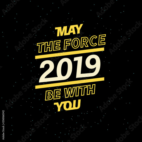 2019 may the force be with you for your seasonal leaflets and greeting cards or Christmas themed invitations Canvas Print