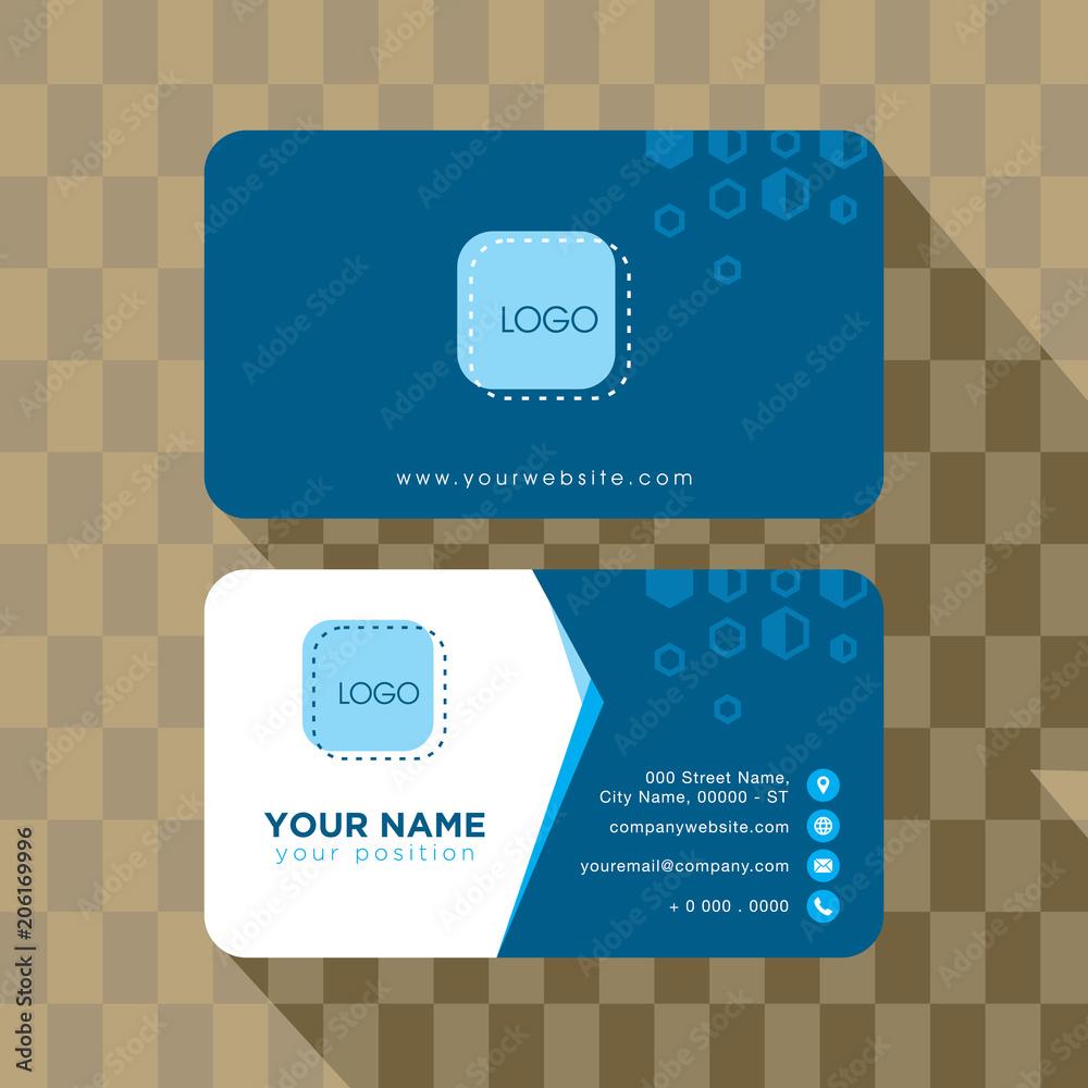 Kubik Digital Technologie Visitenkarte Template Design Foto