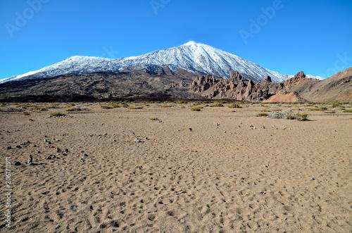 Foto op Aluminium Canarische Eilanden Desert Landscape in Volcan Teide National Park