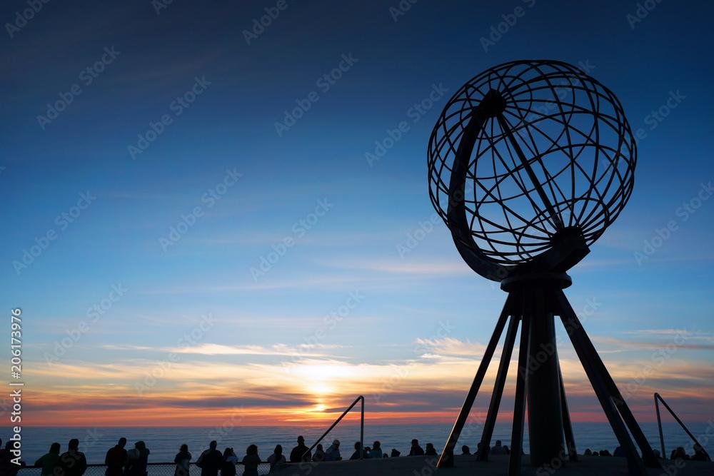 Fototapety, obrazy: Midnight Sun on Nordkapp, Norway