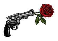 Gun With Rose