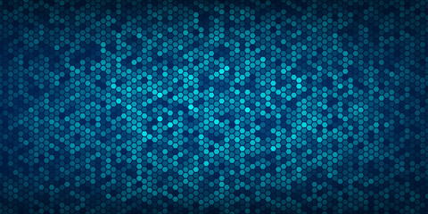 Abstract blue hexagons pattern and texture background for design.vector illustration eps 10