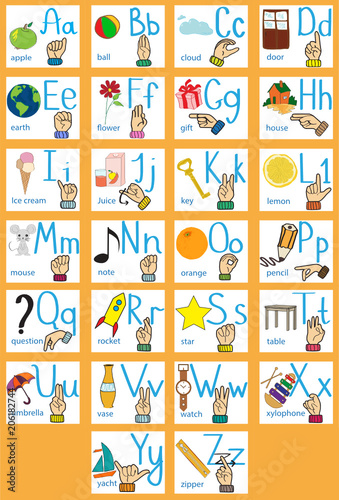 creative english alphabet abc concept sign language and alphabet cartoon letter w buy this stock vector and explore similar vectors at adobe stock adobe stock creative english alphabet abc concept