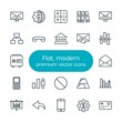 Modern Simple Set of business, charts, mobile, email Vector outline Icons. Contains such Icons as communication, card, internet, square and more on white background. Fully Editable. Pixel Perfect