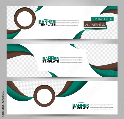 Banner Template Horizontal Header Abstract Background For Design Business Education Advertisement Green And Brown Color Vector Illustration Buy This Stock Vector And Explore Similar Vectors At Adobe Stock Adobe Stock