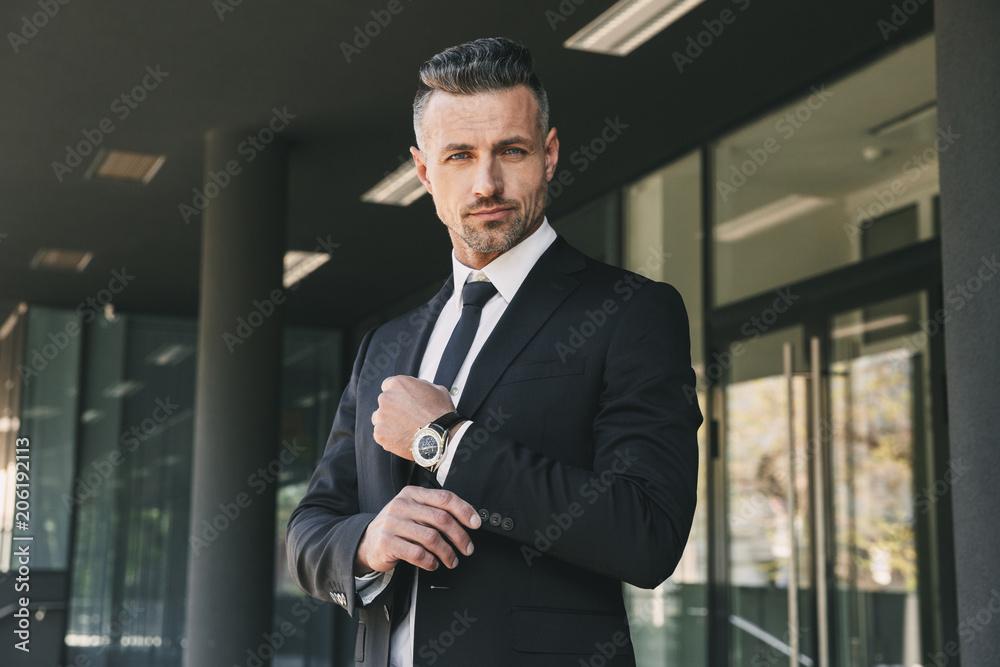 Fototapeta Portrait of a successful young businessman
