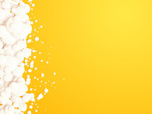 Yellow Background With White B...