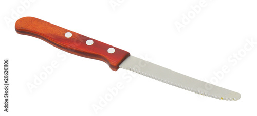 Obraz na plátně  serrated kitchen knife