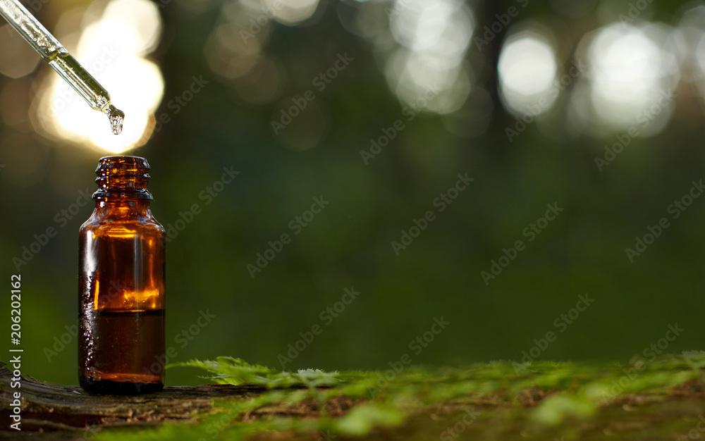 Fototapety, obrazy: Dropper for essential oil bottle.