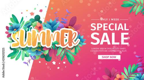Fotografía  Template design banner for summer offer