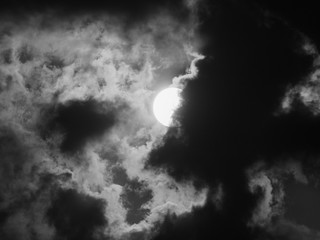 Sun Hides behind The Clouds