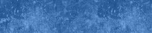 Panorama Rough  Blue Color Textured Concrete Background