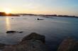 couche de soleil, paysage, bord de mer