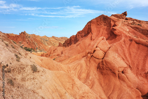 Papiers peints Corail Colorful rock formations in Fairy tale canyon (Skazka), Kyrgyzstan