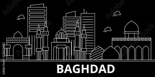 Valokuva  Baghdad silhouette skyline