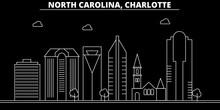 Charlotte Silhouette Skyline. ...