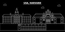 Harvard Silhouette Skyline. US...