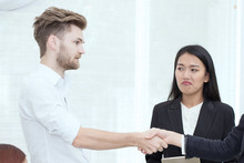 Business Man Shaking Hand And ...