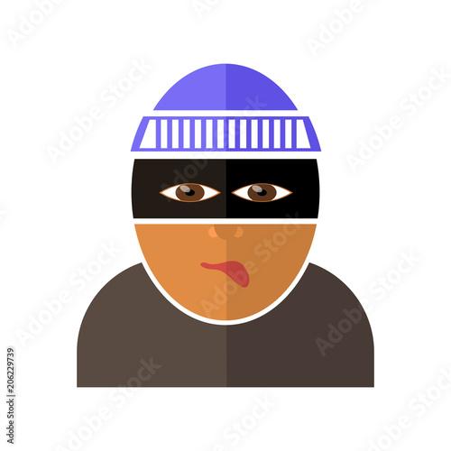 Fotografía Gangster Icon Isolated
