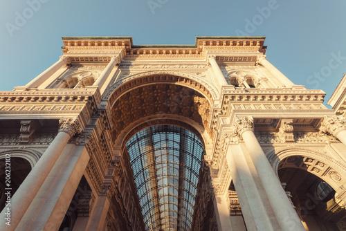Foto op Canvas Oude gebouw Italy, Lombardy, Milan, Galleria Vittorio Emanuele II