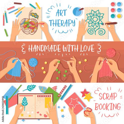 Carta da parati Handmade Banners Set