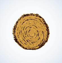 Haystack. Vector Drawing