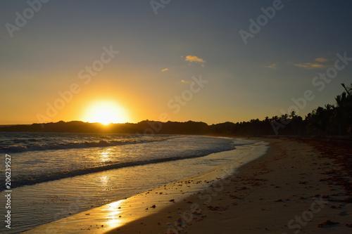 Fotografie, Obraz  The Rincon beach wild and hard to reach on the Samana peninsula in Dominican Rep