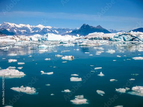 Fototapeta Alaska Marine Highway to Columbia Glacier in summer, Prince William Sound, Alaska, USA, America. View cruise . obraz