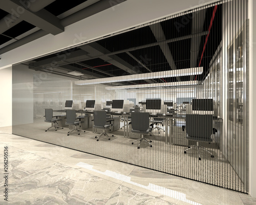 Fototapety, obrazy: 3d render of working space