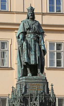 Big Statue Of Charles IV King Of Bohemia In Prague Central Europ