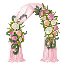 Wedding Arch Decorated With Pi...