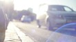 cars go on the road blurred focus. HD video