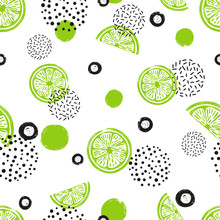 Abstract Seamless Lime Pattern...