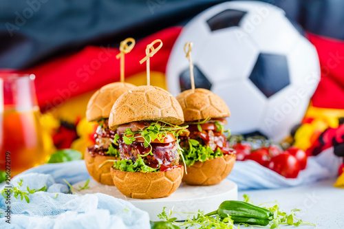 Fotobehang Bol Weltmeister Burger brot in Ball form