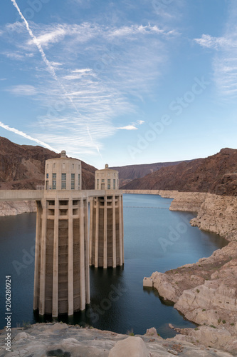 Colorado River and Blue Skies from Hoover Dam - Buy this