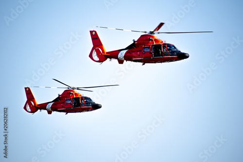 Canvas Prints Helicopter Coast Guard Helicopter