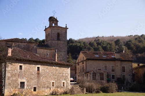 Village of Molinos de Duero in Soria Spain