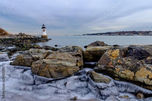 Fotografie, Obraz  Lighthouse at Christmas