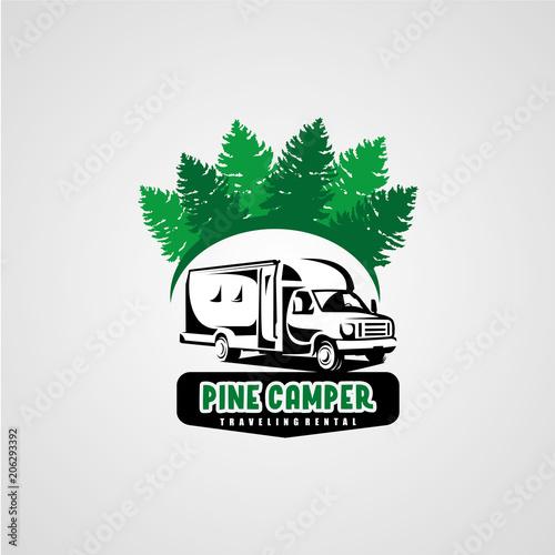 adventure rv camper car logo designs template buy this stock